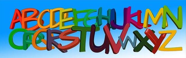 barevné písmena