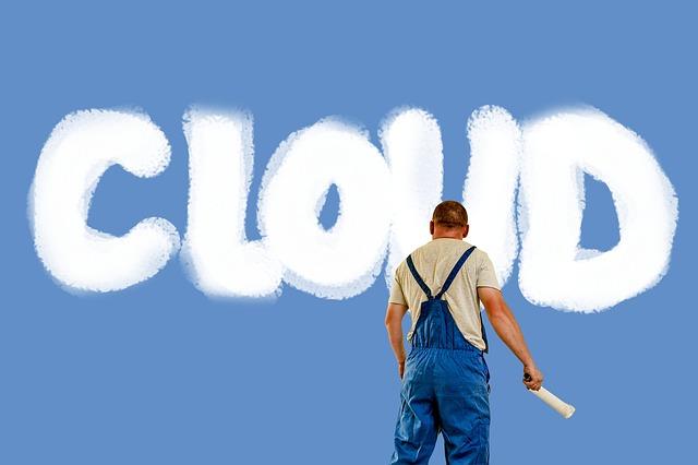 malíř pokojů a cloud