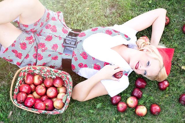 odpočinek s jablky