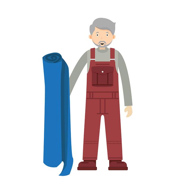 muž a koberec