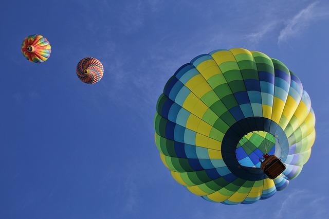 balony ve vzduchu