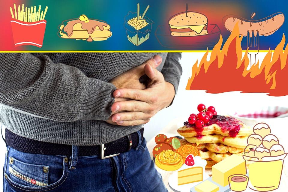 nezdravá strava, bolesť